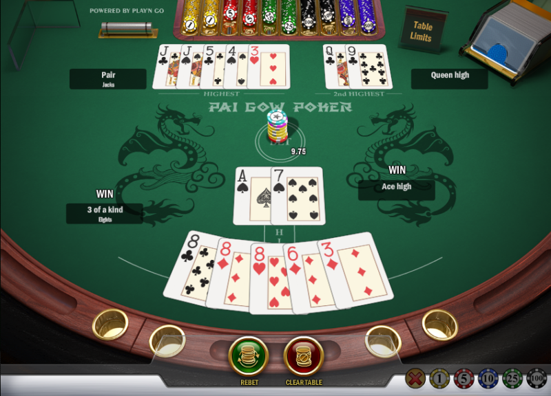 Texas hold em hands in order